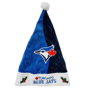 Toronto Blue Jays MLB Baseball Christmas Stitched Colorblock Santa Pom Hat - Bleacher Bum Collectibles, Toronto Blue Jays, NHL , MLB, Toronto Maple Leafs, Hat, Cap, Jersey, Hoodie, T Shirt, NFL, NBA, Toronto Raptors