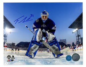 Frederik Andersen Toronto Maple Leafs Signed Autograph NHL Hockey 8x10 Photograph - Various Poses - Bleacher Bum Collectibles, Toronto Blue Jays, NHL , MLB, Toronto Maple Leafs, Hat, Cap, Jersey, Hoodie, T Shirt, NFL, NBA, Toronto Raptors
