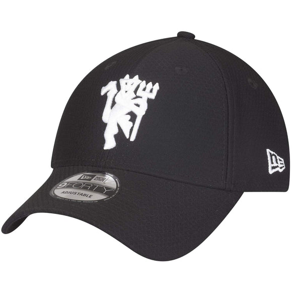 New Era Manchester United Black Hex Devil 9Forty Adjustable Adult Hat - Bleacher Bum Collectibles, Toronto Blue Jays, NHL , MLB, Toronto Maple Leafs, Hat, Cap, Jersey, Hoodie, T Shirt, NFL, NBA, Toronto Raptors