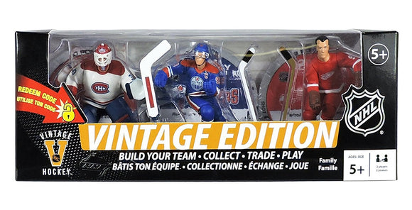 NHL Vintage Edition 3-Pack: Wayne Gretzky, Gordie Howe, & Patrick Roy Premium Sports Artifacts3