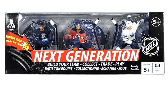 NHL Next Generation 3-Pack: Patrik Laine, Connor McDavid & Auston Matthews Premium Sports Artifacts 3