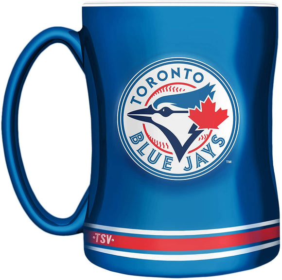 Toronto Blue Jays Primary Logo Blue White MLB Baseball 14oz Sculpted C-Handle Mug