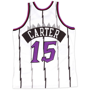 Men's Toronto Raptors Vince Carter Mitchell & Ness White 1998-99 Hardwood Classics Authentic Jersey - Bleacher Bum Collectibles, Toronto Blue Jays, NHL , MLB, Toronto Maple Leafs, Hat, Cap, Jersey, Hoodie, T Shirt, NFL, NBA, Toronto Raptors