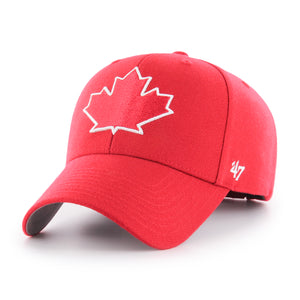 Toronto Blue Jays Alternate Leaf Scarlet Red Adjustable Strap MVP Hat Cap 47 Brand - Bleacher Bum Collectibles, Toronto Blue Jays, NHL , MLB, Toronto Maple Leafs, Hat, Cap, Jersey, Hoodie, T Shirt, NFL, NBA, Toronto Raptors