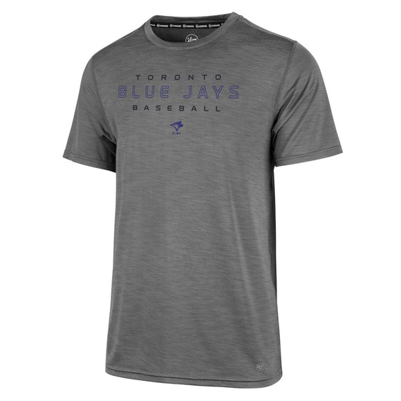 Men's Toronto Blue Jays '47 Forward Microlite Shade Grey MLB Baseball T Shirt - Bleacher Bum Collectibles, Toronto Blue Jays, NHL , MLB, Toronto Maple Leafs, Hat, Cap, Jersey, Hoodie, T Shirt, NFL, NBA, Toronto Raptors