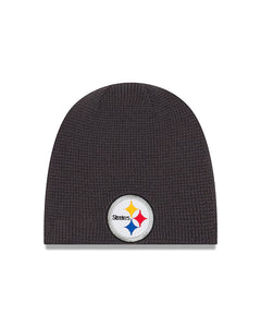 Unisex Pittsburgh Steelers Basic Team Logo Reversible Toque Beanie - One Size
