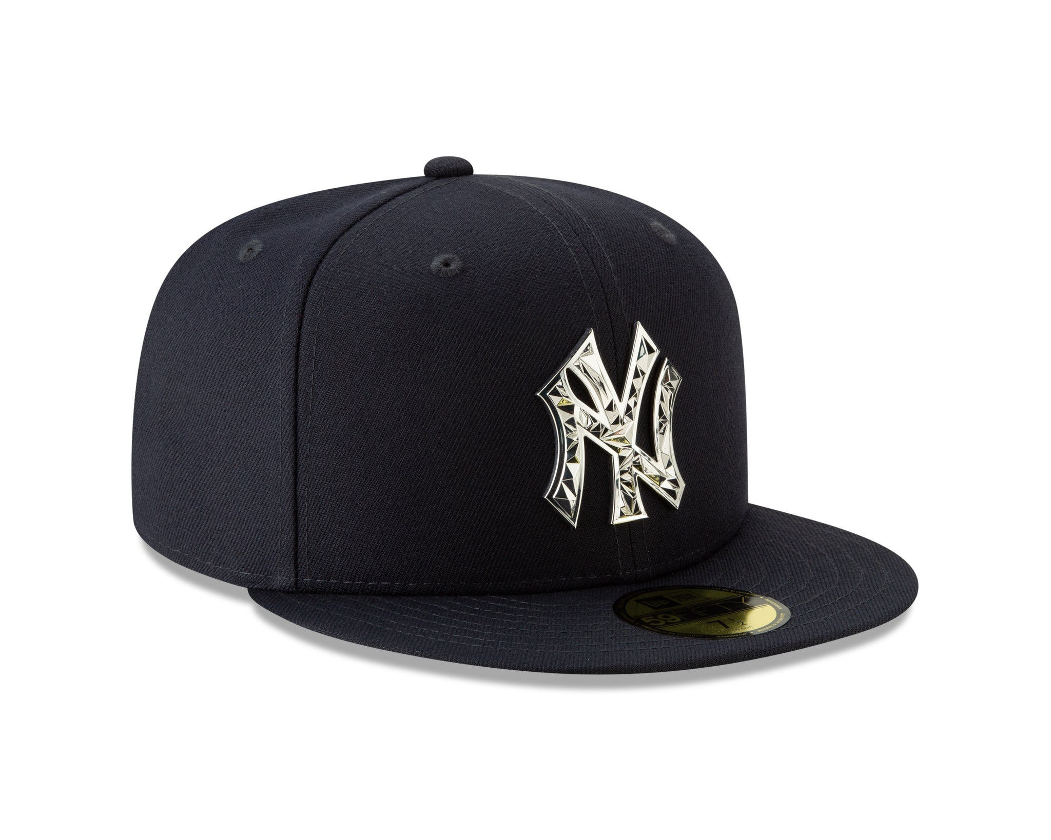 7d1dce39765cf ... Men s New York Yankees Fractured Metal Silver 59Fifty Fitted New Era Hat  - Bleacher Bum Collectibles ...