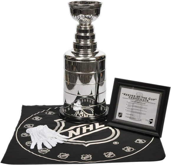 2 Foot NHL Hockey Replica Stanley Cup Comes with Certificate, Gloves & Table Cloth - Bleacher Bum Collectibles, Toronto Blue Jays, NHL , MLB, Toronto Maple Leafs, Hat, Cap, Jersey, Hoodie, T Shirt, NFL, NBA, Toronto Raptors