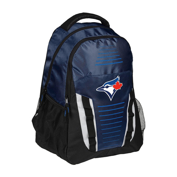 Toronto Blue Jays Franchise Stripe Pack Backpack Bag Made By Forever Collectibles - Bleacher Bum Collectibles, Toronto Blue Jays, NHL , MLB, Toronto Maple Leafs, Hat, Cap, Jersey, Hoodie, T Shirt, NFL, NBA, Toronto Raptors