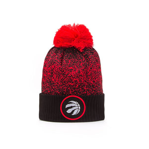 Toronto Raptors New Era Pom Toque/Beanie Knit NBA On Court Collection Red & Black