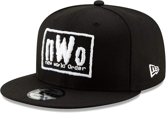 NWO New World Order WWE Wrestling New Era 9Fifty Adjustable Snapback Black White Hat Cap
