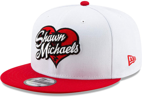 The Heart Break Kid Shawn Michaels WWE Wrestling New Era 9Fifty Adjustable Snapback White Red Hat Cap