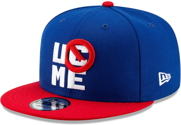 John Cena You Can't See Me WWE Wrestling New Era 9Fifty Adjustable Snapback Red Blue Hat Cap