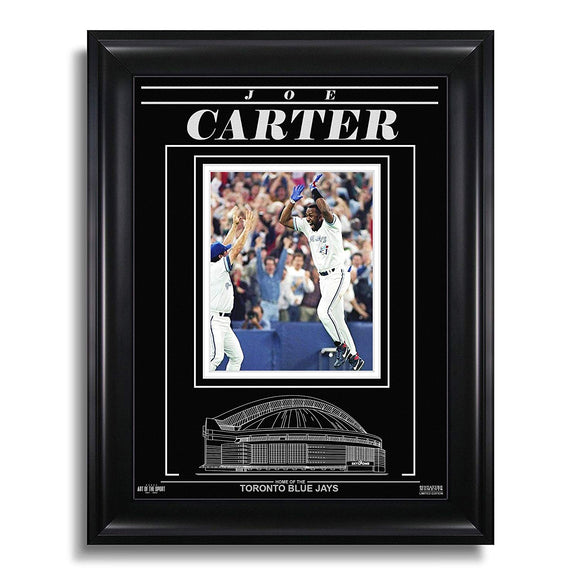 Joe Carter Toronto Blue Jays Engraved Framed Photo - 1993 World Series Home Run - Bleacher Bum Collectibles, Toronto Blue Jays, NHL , MLB, Toronto Maple Leafs, Hat, Cap, Jersey, Hoodie, T Shirt, NFL, NBA, Toronto Raptors