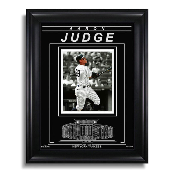 Aaron Judge New York Yankees Engraved Framed Photo - Action Spotlight - Bleacher Bum Collectibles, Toronto Blue Jays, NHL , MLB, Toronto Maple Leafs, Hat, Cap, Jersey, Hoodie, T Shirt, NFL, NBA, Toronto Raptors