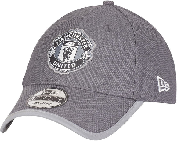 Manchester United F.C. Soccer Club New Era 9Forty Grey Tonal Adjustable Buckle Hat