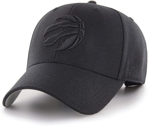 Men's Toronto Raptors MVP Primary Black on Black Logo Black Hat Cap Adjustable Strap - Bleacher Bum Collectibles, Toronto Blue Jays, NHL , MLB, Toronto Maple Leafs, Hat, Cap, Jersey, Hoodie, T Shirt, NFL, NBA, Toronto Raptors