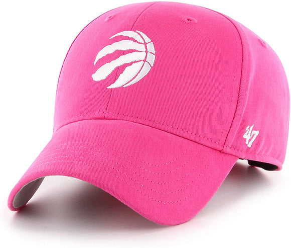 Girl's Youth Toronto Raptors '47 Brand Basic NBA Basketball Magenta MVP Cap Hat - Bleacher Bum Collectibles, Toronto Blue Jays, NHL , MLB, Toronto Maple Leafs, Hat, Cap, Jersey, Hoodie, T Shirt, NFL, NBA, Toronto Raptors