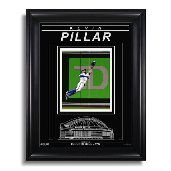 Kevin Pillar Toronto Blue Jays Engraved Framed Photo - Action Catch - Bleacher Bum Collectibles, Toronto Blue Jays, NHL , MLB, Toronto Maple Leafs, Hat, Cap, Jersey, Hoodie, T Shirt, NFL, NBA, Toronto Raptors