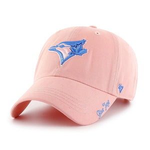 Toronto Blue Jays Women's Miata Clean Up Light Pink Hat Cap - Size One Size/Adjustable - Bleacher Bum Collectibles, Toronto Blue Jays, NHL , MLB, Toronto Maple Leafs, Hat, Cap, Jersey, Hoodie, T Shirt, NFL, NBA, Toronto Raptors