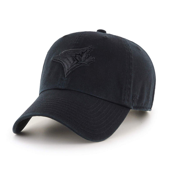 Men's Toronto Blue Jays 47 Brand Black Clean Up Adjustable Buckle Cap Hat