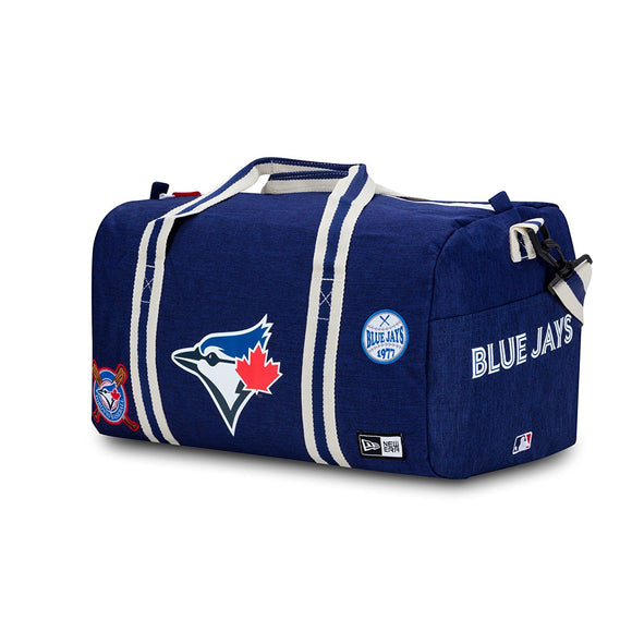 Toronto Blue Jays Heritage Patch Duffle Bag Made By New Era - Bleacher Bum Collectibles, Toronto Blue Jays, NHL , MLB, Toronto Maple Leafs, Hat, Cap, Jersey, Hoodie, T Shirt, NFL, NBA, Toronto Raptors