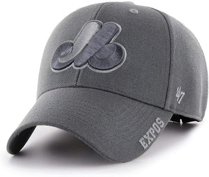Men's Montreal Expos Defrost MVP Adjustable Hat Cap Black One Size Fits Most - Bleacher Bum Collectibles, Toronto Blue Jays, NHL , MLB, Toronto Maple Leafs, Hat, Cap, Jersey, Hoodie, T Shirt, NFL, NBA, Toronto Raptors