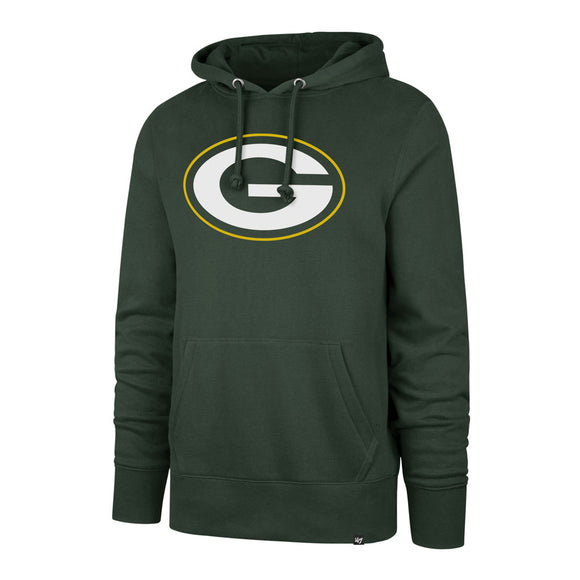 Men's Green Bay Packers NFL Football Imprint Headline Team Colour Logo Pullover Green Hoodie