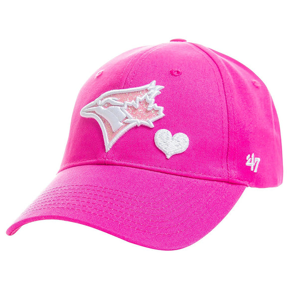 Kids Toronto Blue Jays Sugar Sweet Pink Adjustable Strap Cap Hat - Multiple Sizes - Bleacher Bum Collectibles, Toronto Blue Jays, NHL , MLB, Toronto Maple Leafs, Hat, Cap, Jersey, Hoodie, T Shirt, NFL, NBA, Toronto Raptors