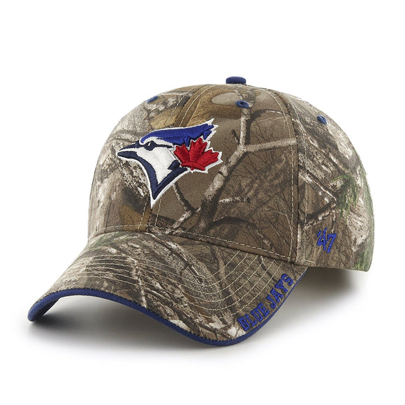 MLB Toronto Blue Jays Realtree Frost '47 MVP Adjustable Hat Cap Realtree Camouflage - Bleacher Bum Collectibles, Toronto Blue Jays, NHL , MLB, Toronto Maple Leafs, Hat, Cap, Jersey, Hoodie, T Shirt, NFL, NBA, Toronto Raptors