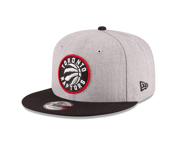 Men's Toronto Raptors New Era Heathered Gray/Black Two-Tone 9FIFTY Snapback Adjustable Hat