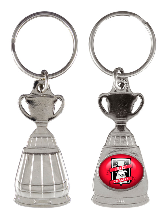 Calgary Stampeders 2018 106th Grey Cup Champions CFL Football Collectible Key Chain - Bleacher Bum Collectibles, Toronto Blue Jays, NHL , MLB, Toronto Maple Leafs, Hat, Cap, Jersey, Hoodie, T Shirt, NFL, NBA, Toronto Raptors