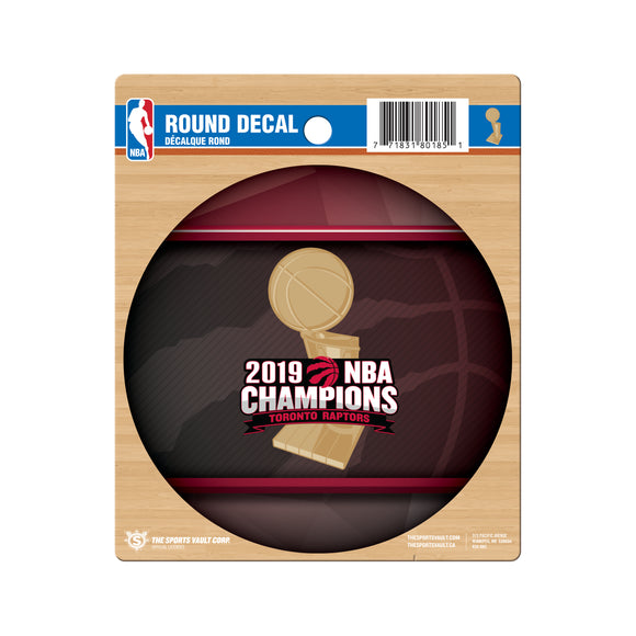 Toronto Raptors 2019 NBA Finals Champions Basketball Collectors Round Vinyl Decal - Bleacher Bum Collectibles, Toronto Blue Jays, NHL , MLB, Toronto Maple Leafs, Hat, Cap, Jersey, Hoodie, T Shirt, NFL, NBA, Toronto Raptors
