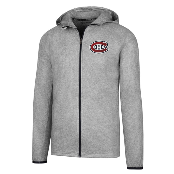 Montreal Canadiens 47 Brand Men's Forward Full Zip Rain Shell Jacket - Bleacher Bum Collectibles, Toronto Blue Jays, NHL , MLB, Toronto Maple Leafs, Hat, Cap, Jersey, Hoodie, T Shirt, NFL, NBA, Toronto Raptors