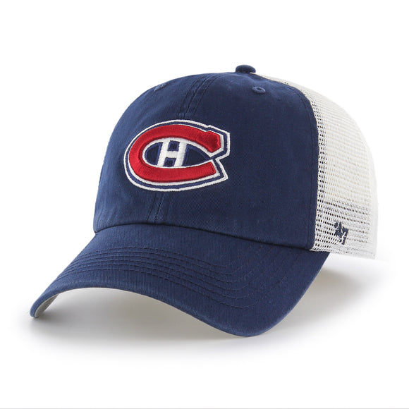 Men's Montreal Canadiens Blue Hill Closer Two Tone Mesh Back Cap Hat Flex Fit - Bleacher Bum Collectibles, Toronto Blue Jays, NHL , MLB, Toronto Maple Leafs, Hat, Cap, Jersey, Hoodie, T Shirt, NFL, NBA, Toronto Raptors