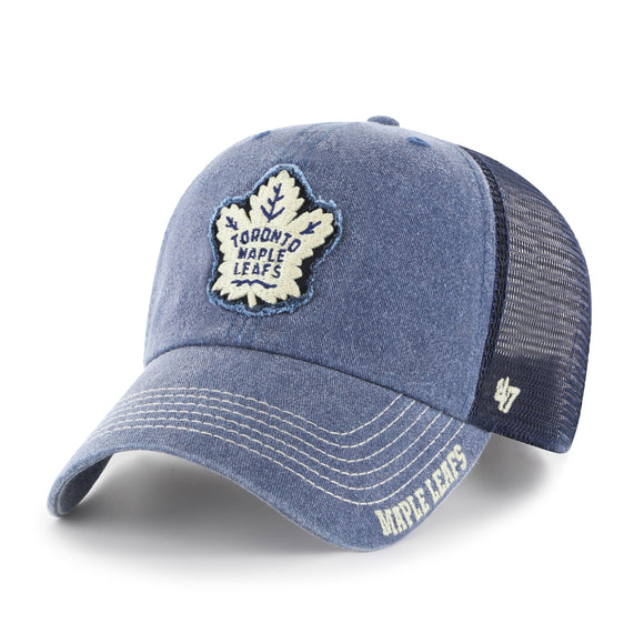 Toronto Maple Leafs Men's MLB '47 Brand Burnstead Snapback Adjustable Fit Cap Hat - Bleacher Bum Collectibles, Toronto Blue Jays, NHL , MLB, Toronto Maple Leafs, Hat, Cap, Jersey, Hoodie, T Shirt, NFL, NBA, Toronto Raptors