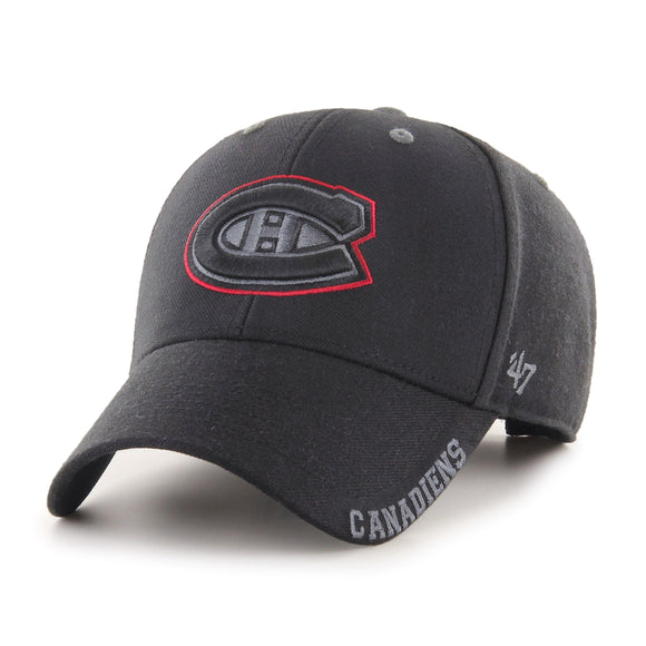 Men's Montreal Canadiens Defrost MVP Adjustable Hat Cap Black One Size Fits Most - Bleacher Bum Collectibles, Toronto Blue Jays, NHL , MLB, Toronto Maple Leafs, Hat, Cap, Jersey, Hoodie, T Shirt, NFL, NBA, Toronto Raptors