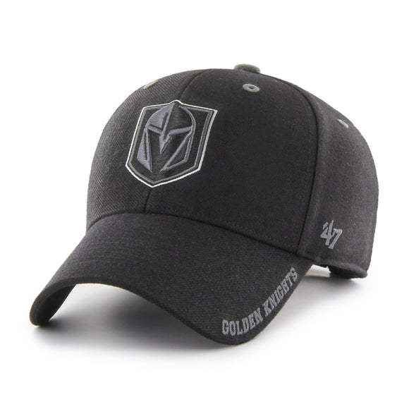 Men's Vegas Golden Knights Defrost MVP Adjustable Hat Cap Black One Size Fits Most - Bleacher Bum Collectibles, Toronto Blue Jays, NHL , MLB, Toronto Maple Leafs, Hat, Cap, Jersey, Hoodie, T Shirt, NFL, NBA, Toronto Raptors