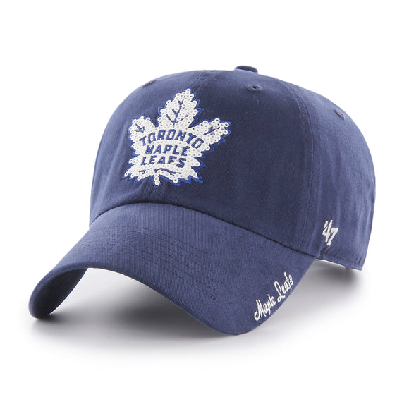 Toronto Maple Leafs 47 Brand Sparkle Team Color One Size Adjustable Cap Hat Ladies Women