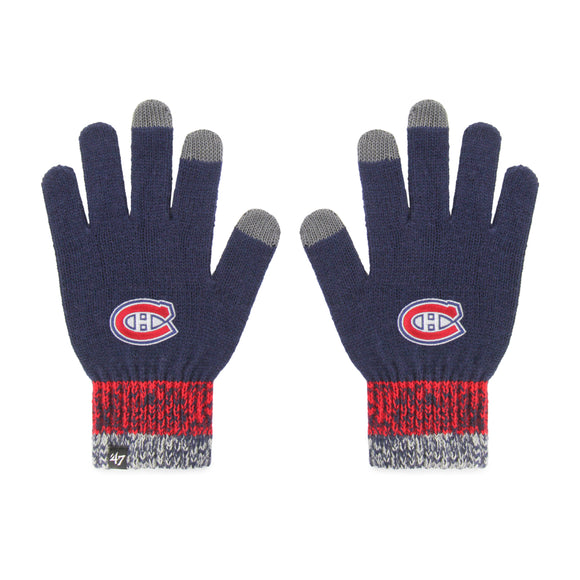 Men's Montreal Canadiens Static Winter Acrylic Gloves One Size Fits Most - Bleacher Bum Collectibles, Toronto Blue Jays, NHL , MLB, Toronto Maple Leafs, Hat, Cap, Jersey, Hoodie, T Shirt, NFL, NBA, Toronto Raptors
