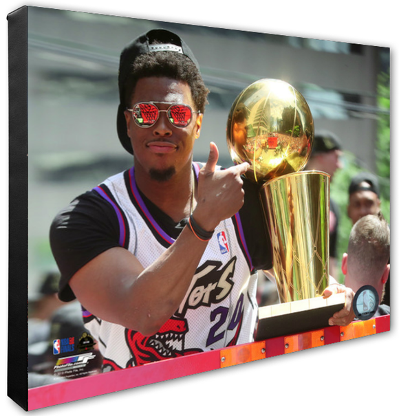 Toronto Raptors 2019 NBA Champions Toronto City Parade Stretched Canvas - Multiple Angles