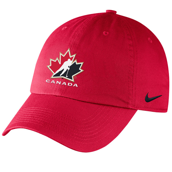 2018 Team Canada IIHF WJC Red Adjustable Buckle Strap Hockey Cap Hat - Youth - Bleacher Bum Collectibles, Toronto Blue Jays, NHL , MLB, Toronto Maple Leafs, Hat, Cap, Jersey, Hoodie, T Shirt, NFL, NBA, Toronto Raptors