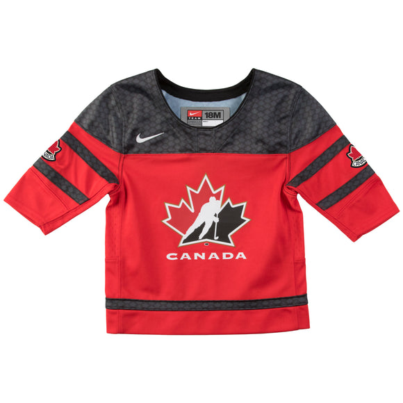 2018 Team Canada Nike Hockey IIHF WJC Red Replica Infant Jersey - Multiple Sizes - Bleacher Bum Collectibles, Toronto Blue Jays, NHL , MLB, Toronto Maple Leafs, Hat, Cap, Jersey, Hoodie, T Shirt, NFL, NBA, Toronto Raptors