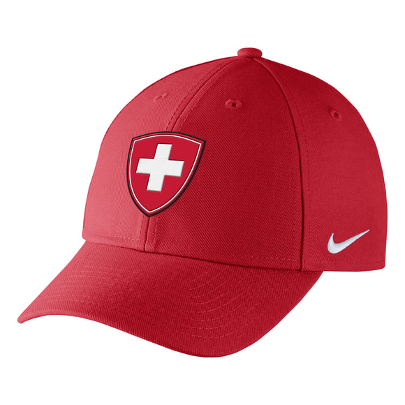 2018 Team Switzerland Hockey Nike IIHF Primary Logo Wool Classic Adjustable Cap Hat - Bleacher Bum Collectibles, Toronto Blue Jays, NHL , MLB, Toronto Maple Leafs, Hat, Cap, Jersey, Hoodie, T Shirt, NFL, NBA, Toronto Raptors
