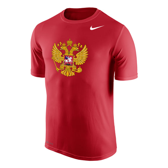 2018 Team Russia Men's IIFH WJC Olympics Dri-Fit Legends Short Sleeves T Shirt - Bleacher Bum Collectibles, Toronto Blue Jays, NHL , MLB, Toronto Maple Leafs, Hat, Cap, Jersey, Hoodie, T Shirt, NFL, NBA, Toronto Raptors