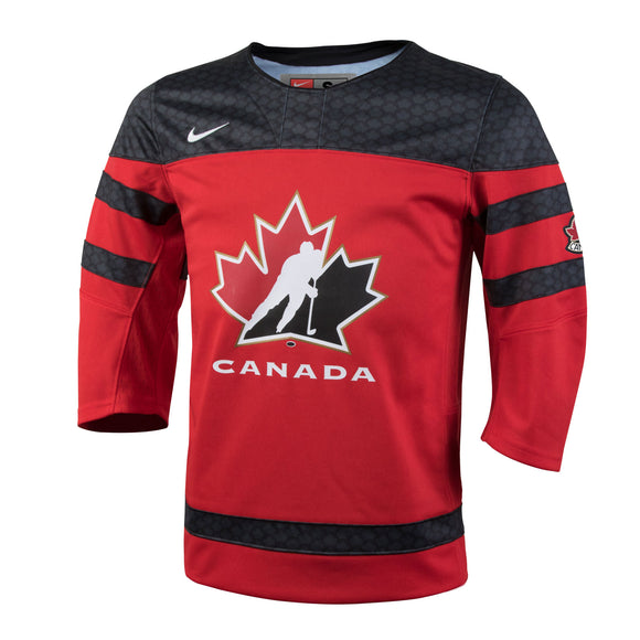 2018 Team Canada Nike Hockey IIHF WJC Red Replica Youth Jersey - Multiple Sizes - Bleacher Bum Collectibles, Toronto Blue Jays, NHL , MLB, Toronto Maple Leafs, Hat, Cap, Jersey, Hoodie, T Shirt, NFL, NBA, Toronto Raptors
