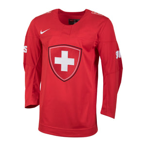 2018 Team Switzerland Nike Hockey Olympic Red Blank Replica Jersey - Men's - Bleacher Bum Collectibles, Toronto Blue Jays, NHL , MLB, Toronto Maple Leafs, Hat, Cap, Jersey, Hoodie, T Shirt, NFL, NBA, Toronto Raptors