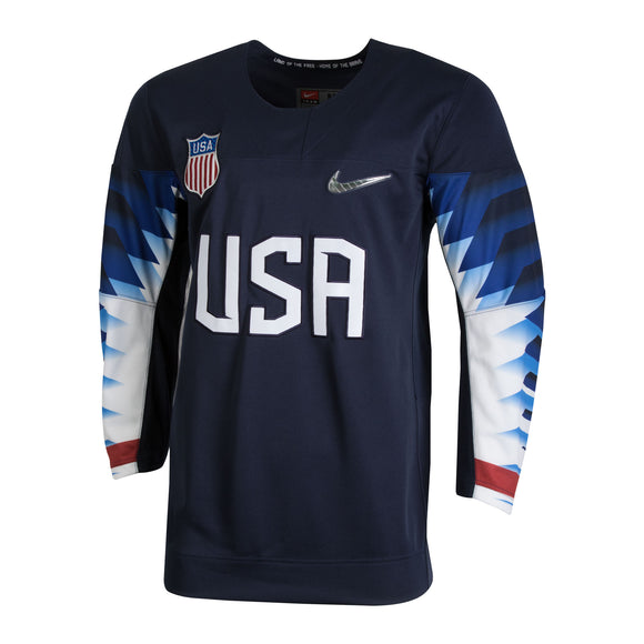 2018 Team USA Nike Hockey Olympic Navy Blue Blank Replica Jersey - Men's - Bleacher Bum Collectibles, Toronto Blue Jays, NHL , MLB, Toronto Maple Leafs, Hat, Cap, Jersey, Hoodie, T Shirt, NFL, NBA, Toronto Raptors
