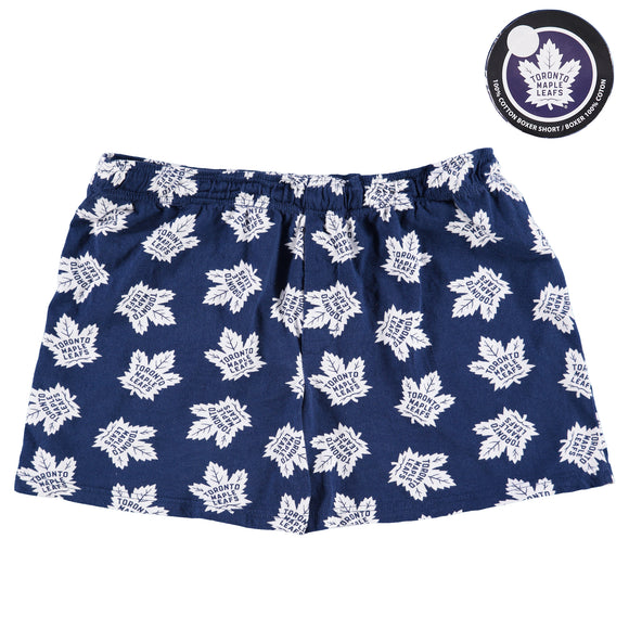 Men's Toronto Maple Leafs All-Over Print Puck Packaged Boxer Shorts NHL Hockey