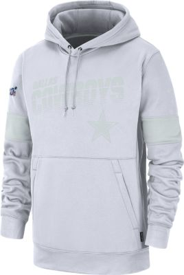 Men's Nike Dallas Cowboys NFL Football White Work Mark Pullover Hooded Sweatshirt